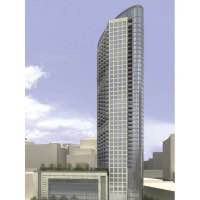 Drawing of the Habitat Tower at 360 West Hubbard Street