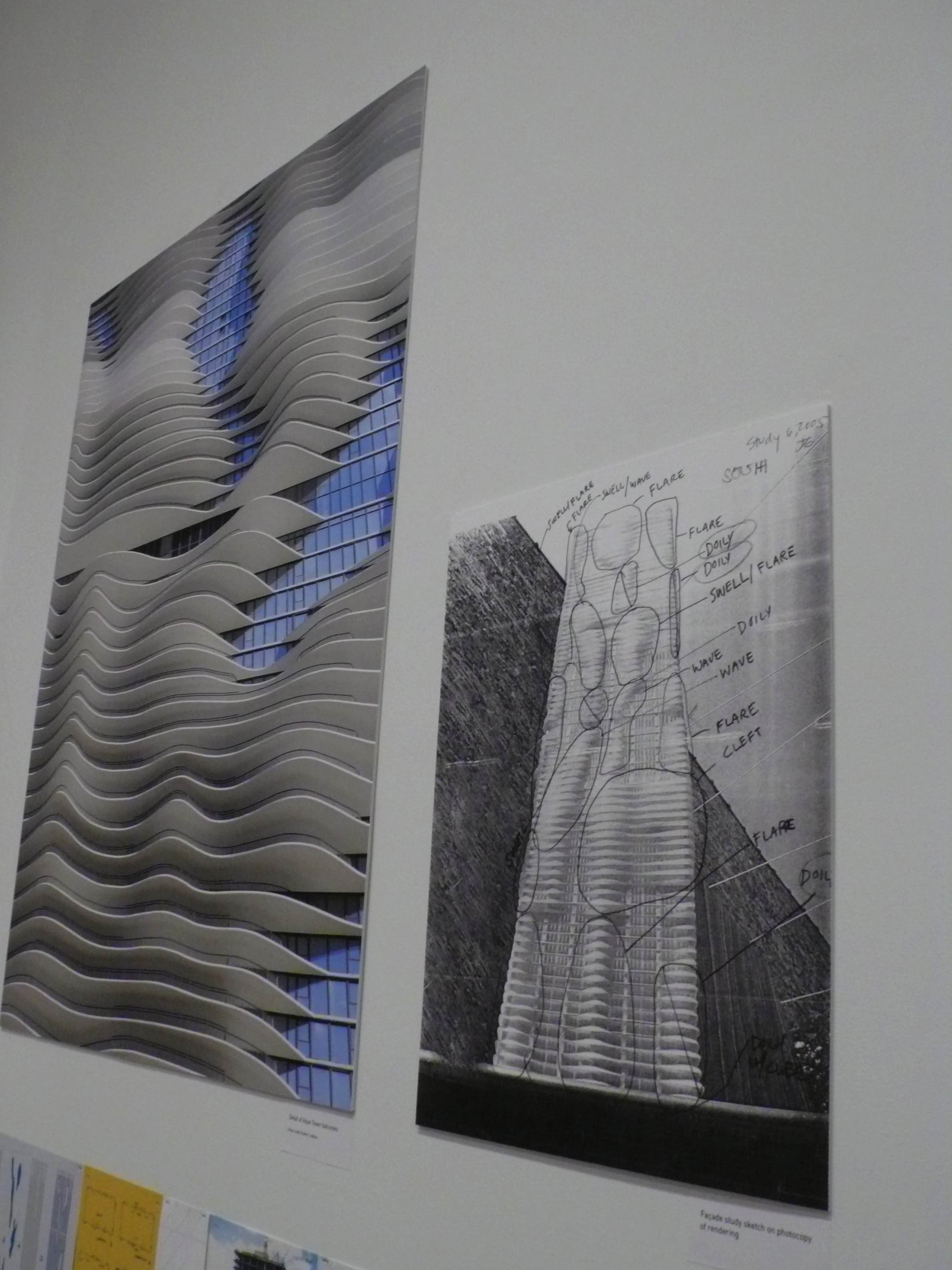 The Studio Gang-designed Aqua Tower is featured in the Art Institute exhibit celebrating the Chicago-based firm.