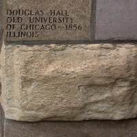 Tribune Tower rock - Douglas Hall - Old University of Chicago - Chicago