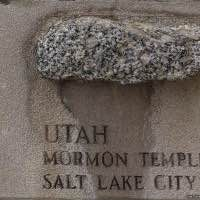 Tribune Tower rock - Mormon Temple - Salt Lake City - Utah