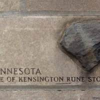 Tribune Tower rock - Site of the Kensington Rune Stone - Kensington - Minnesota