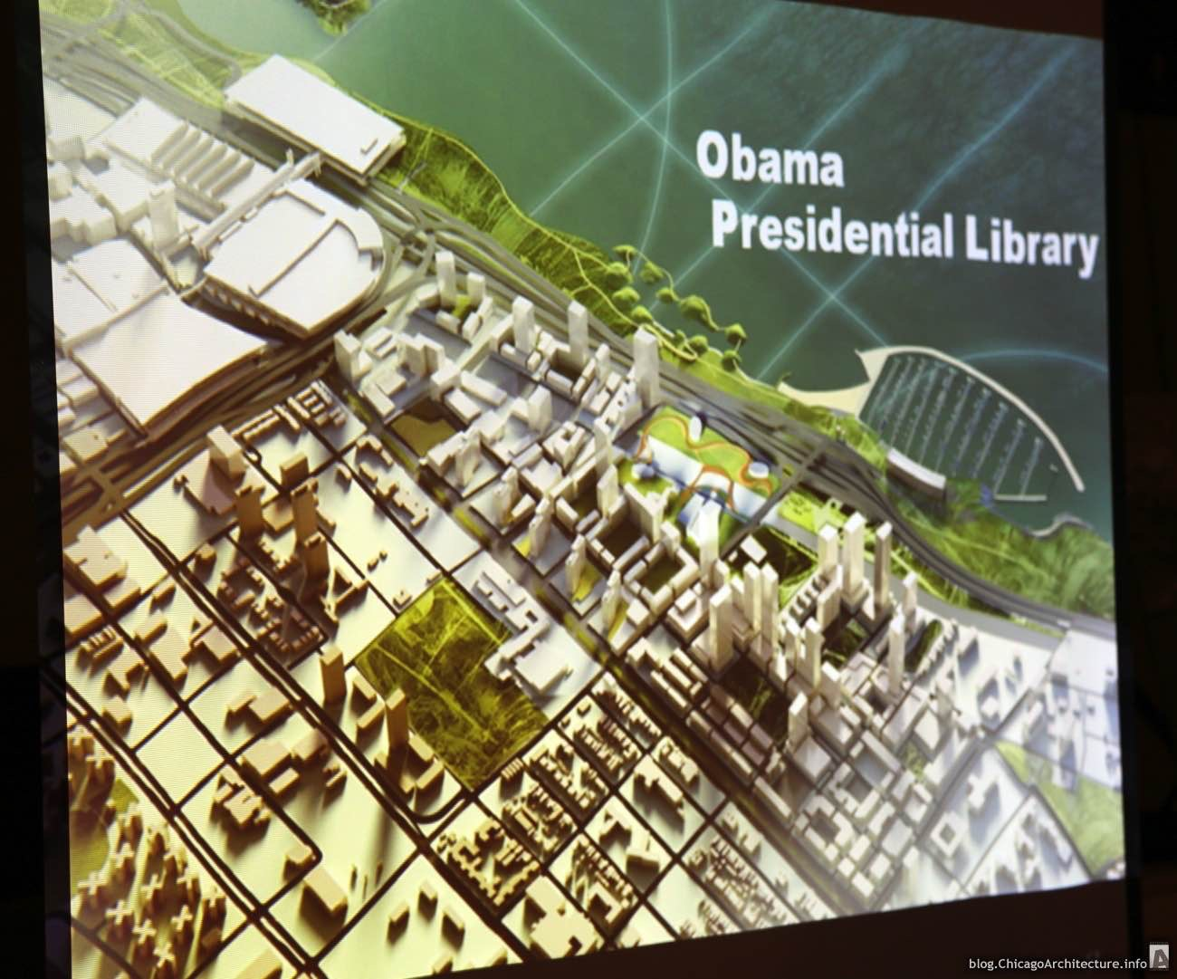 An early proposal for the Obama Presidential Center that won't become reality