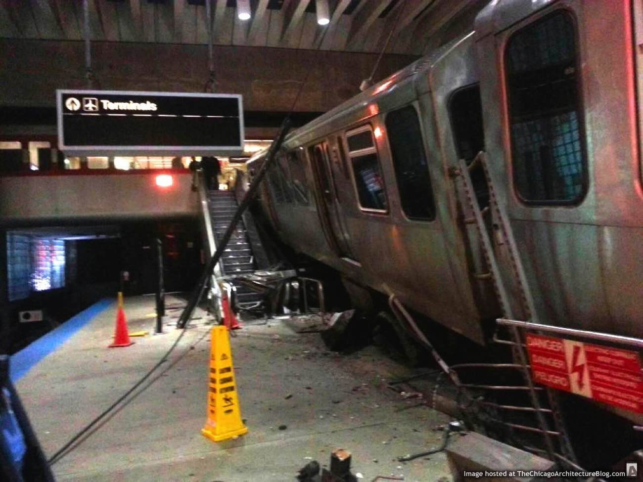 CTA Blue Line O'Hare Station crash