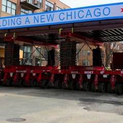 Remote Control Crawler Hefts Recycled Chicago Bridge Into Place