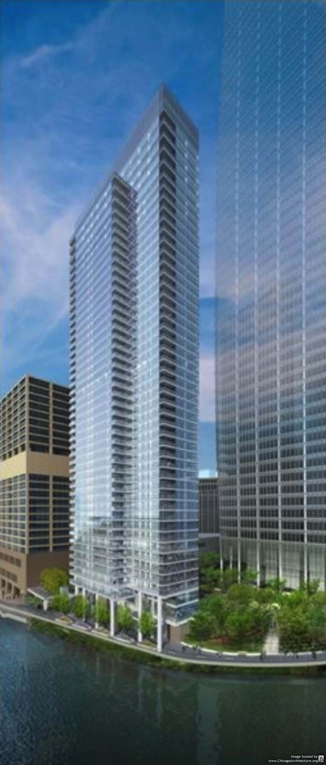 Wolf Point West rendering courtesy of bKL Architecture