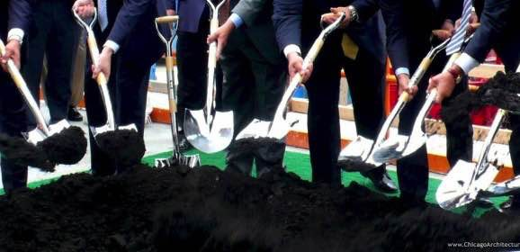Amid Dirt, Cranes and Bulldozers, Official Groundbreaking for Wolf Point West