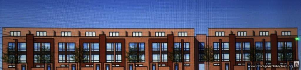 Drawing of proposed 1712 South Prairie townhomes