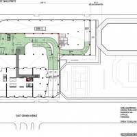 Diagram of 410 East Grand, courtesy of SCB