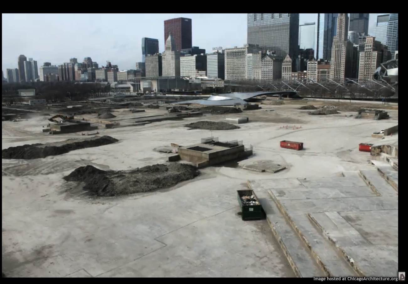 Maggie Daley Park construction video frame