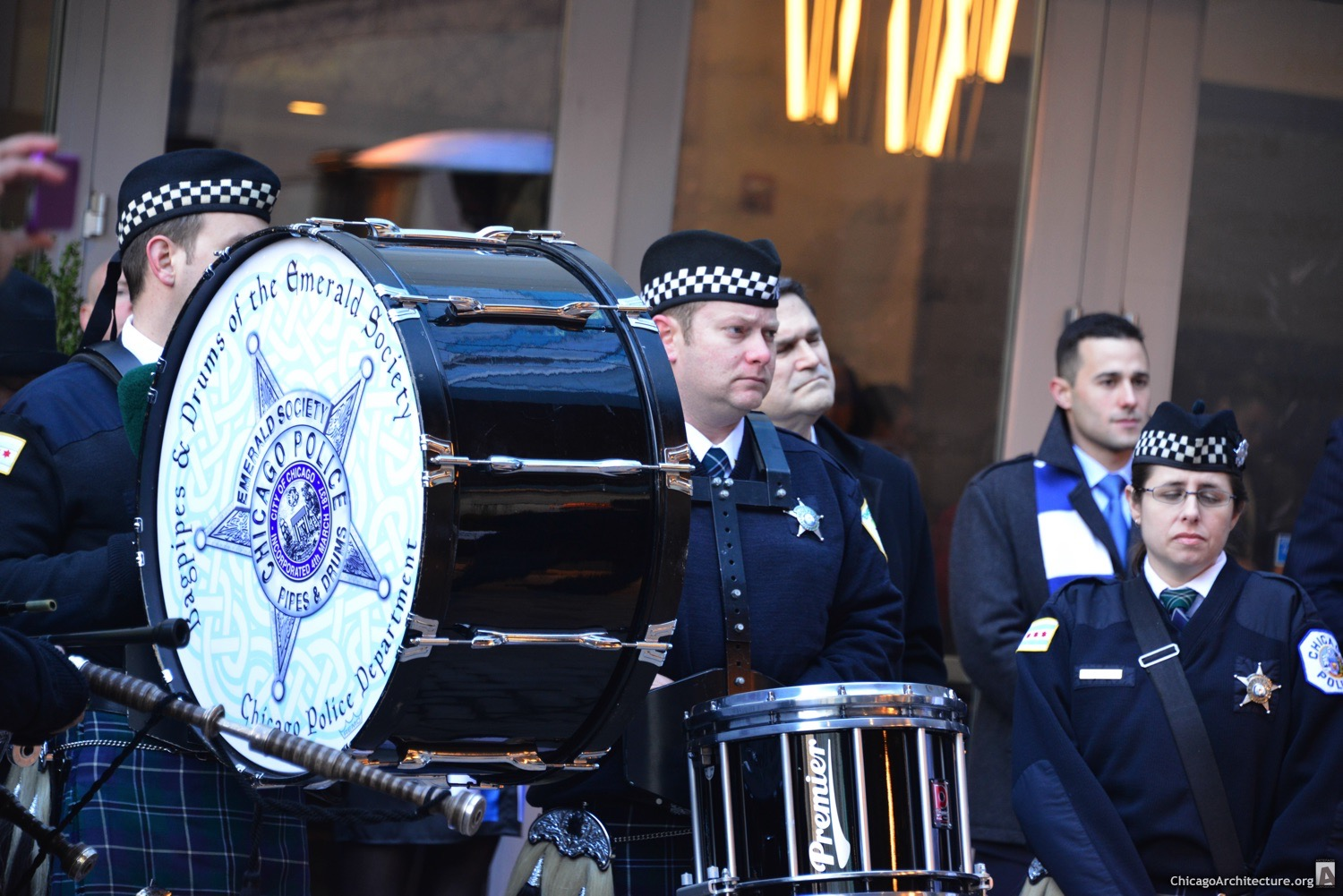 Police band at Loews Hotel opening