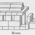Model for construction of a house out of Froebel blocks from The Kindergarten Guide by Maria Kraus-Boche and John Drauss, New York, 1877