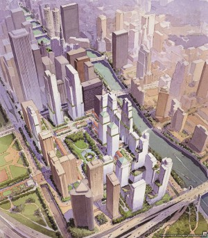 Plan for Lakeshore East. Courtesy of SOM.