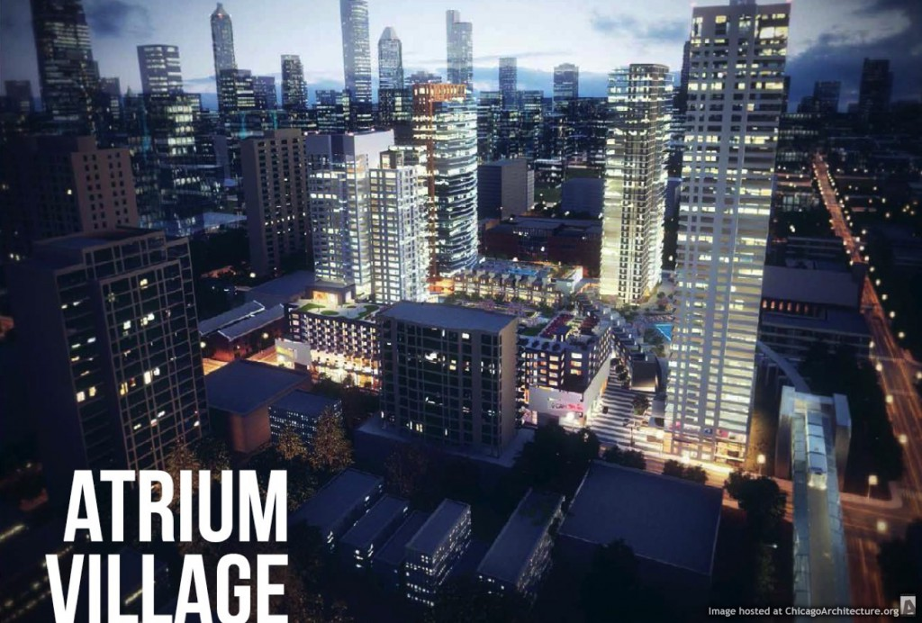 Atrium Village redevelopment rendering courtesy of Onni Group