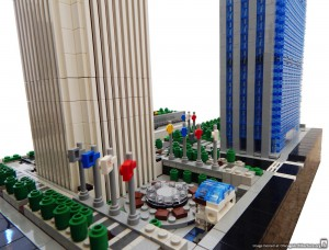 Aon Plaza in Lego. Courtesy of Rocco Buttliere