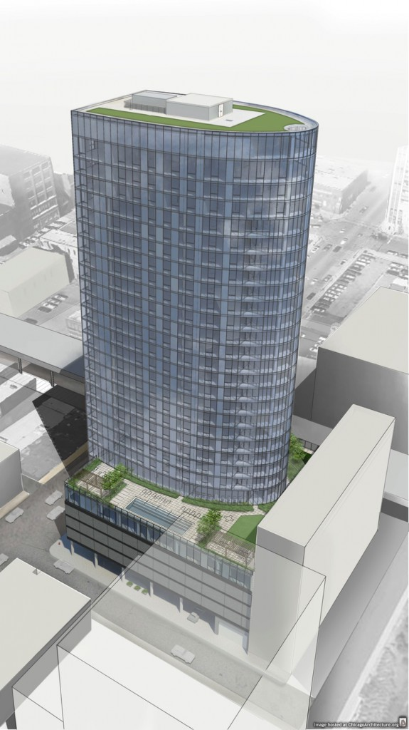 Drawing of 171 North Halsted, courtesy of Shapack Partners
