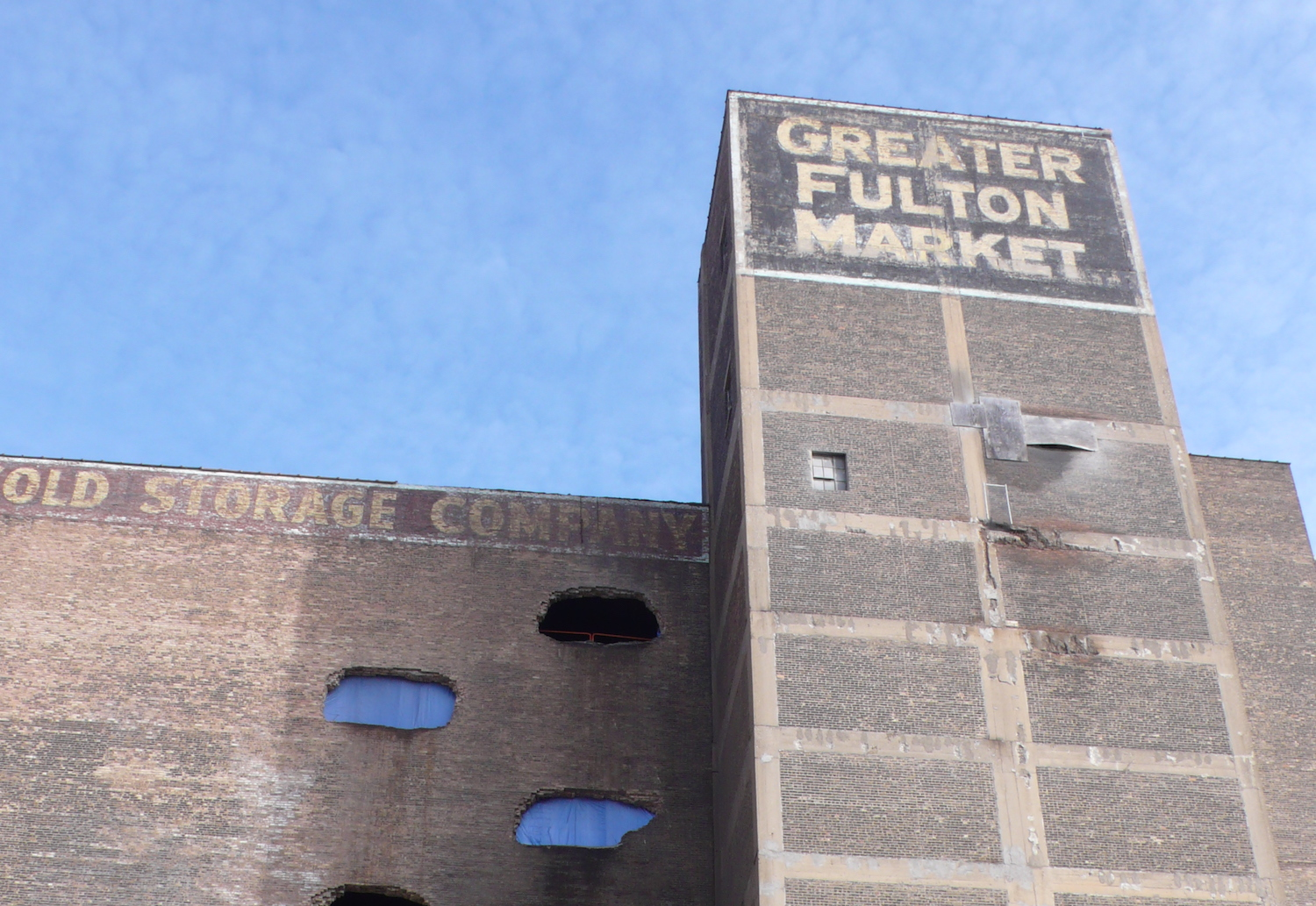The Fulton Market Cold Storage Building Before Its Makeover.