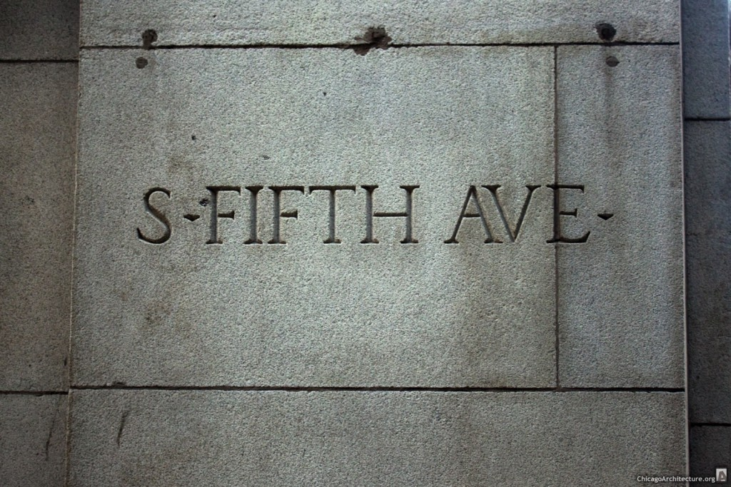 5th Avenue Sign - Chicago, Illinois - October, 2013 - 001a