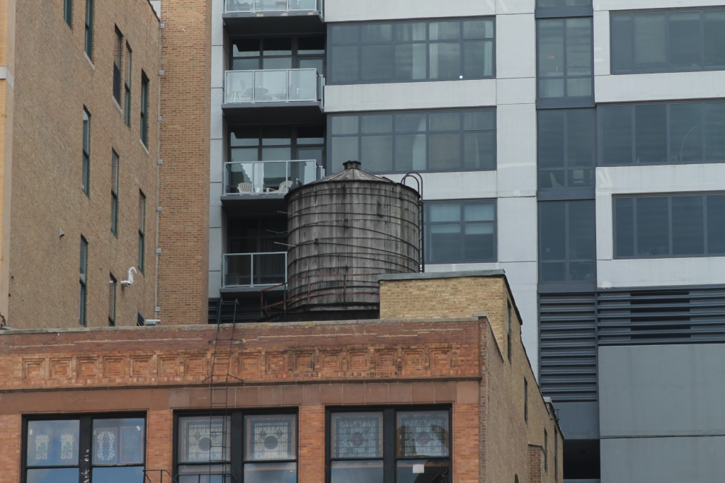 Water tank at 404 South Wells Street