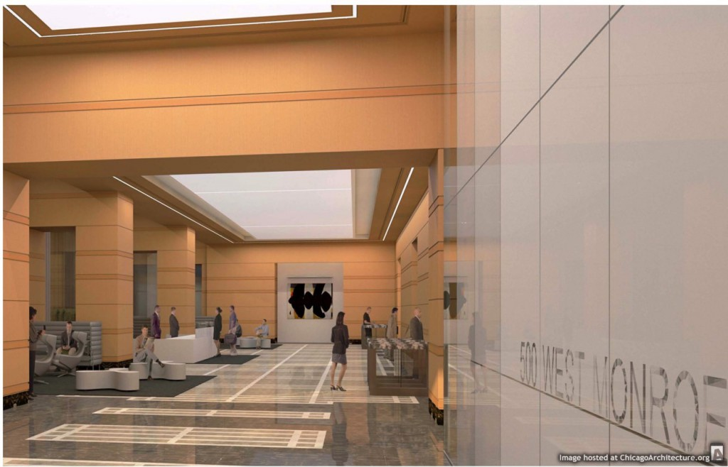 Rendering of 500 West Loop lobby (Courtesy of J.C. Anderson)