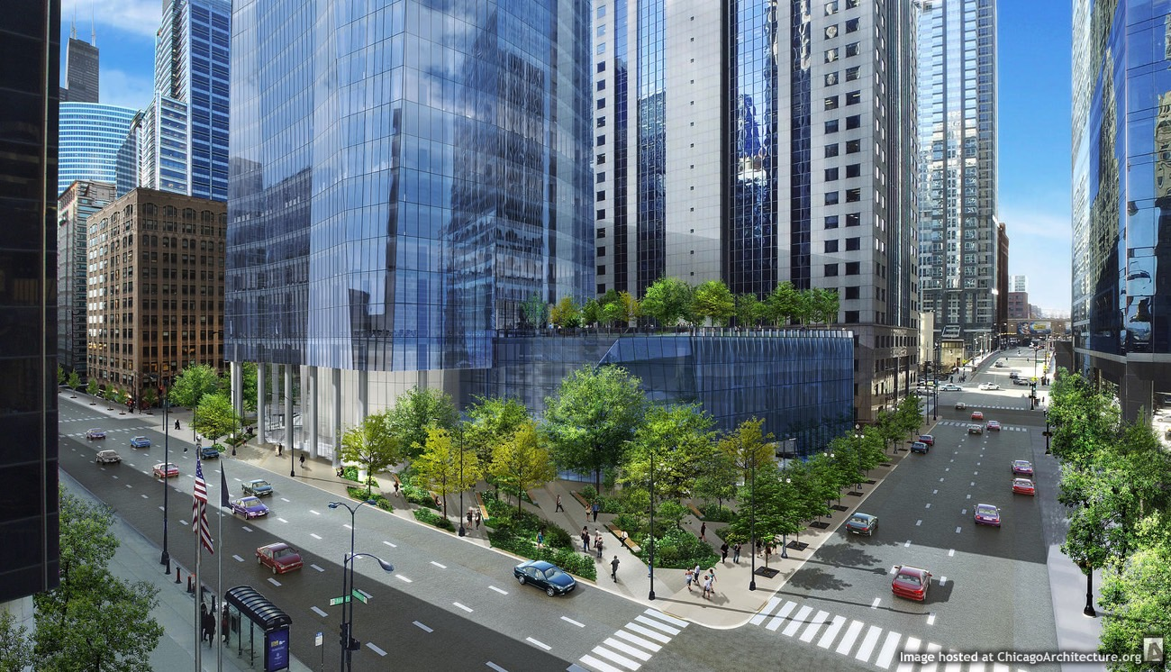Rendering of 130 North Franklin (Courtesy of Krueck + Sexton)
