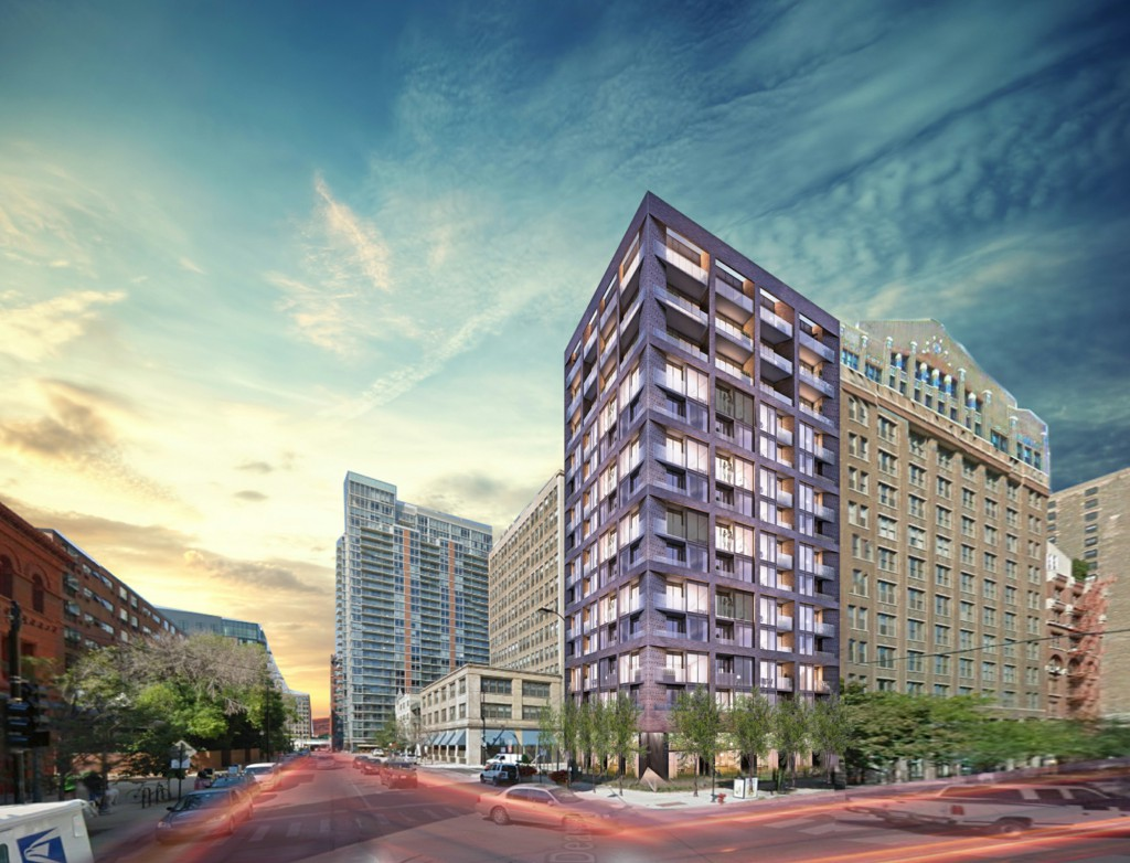 Rendering of 776 South Dearborn (LG Development via Curbed)