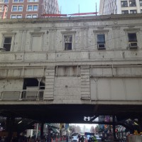 Madison/Wabash station, in happier times.
