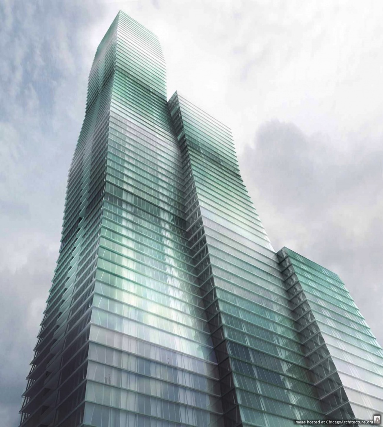 Rendring of the Wanda Vista Tower (Courtesy of Studio Gang)