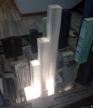Wanda Vista Tower model (Courtesy of Loop Spy Daniel)