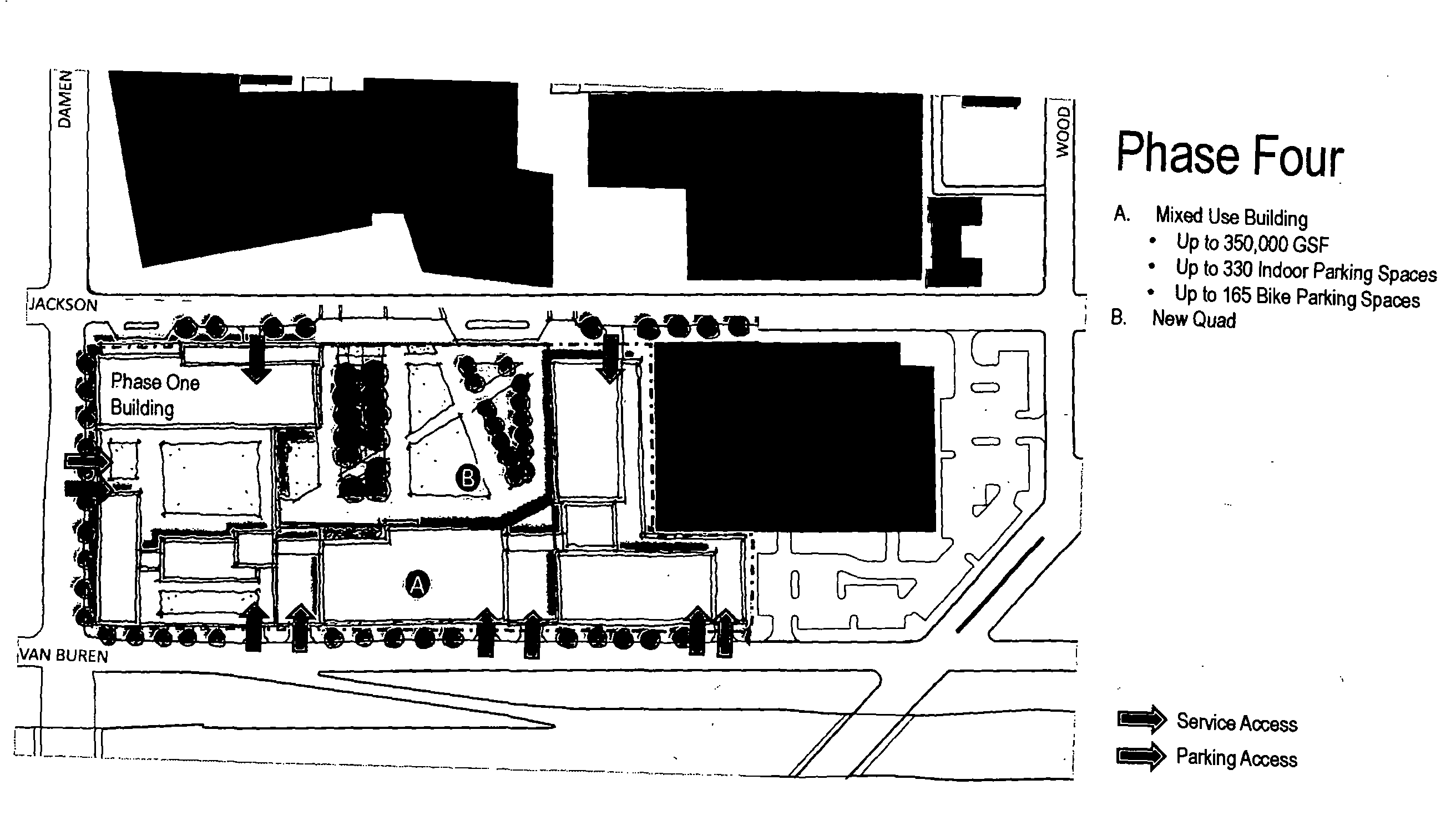 Diagram of the new Rush University Medical Center expansion
