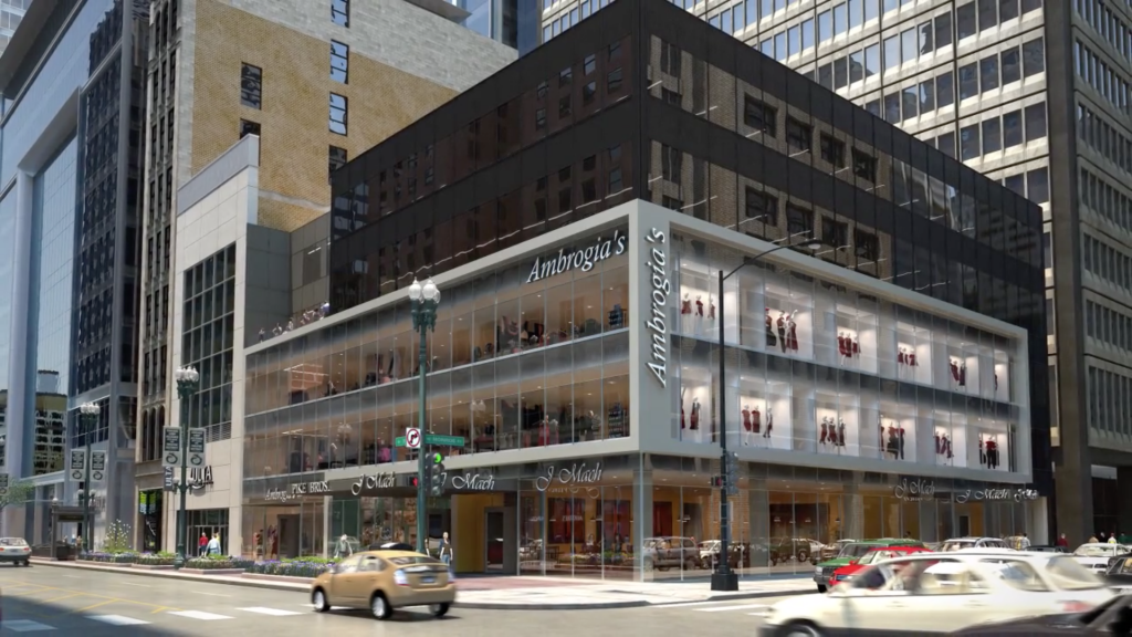 Rendering of the renovated 100 South State Street