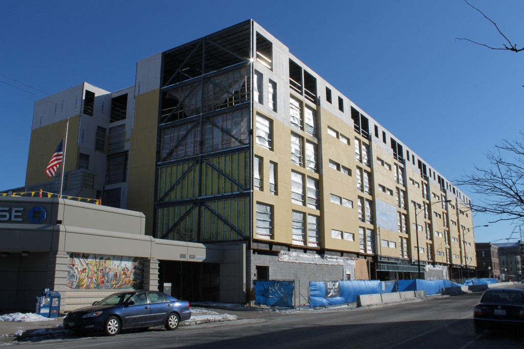 Photo of a building under construction at 2211 N Milwaukee Ave by Daniel Schell