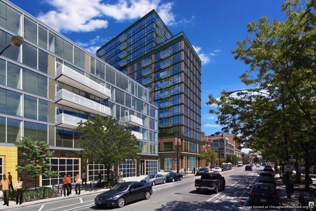 Rendering of the Wicker Park Connection (Courtesy Hirsch Associates)