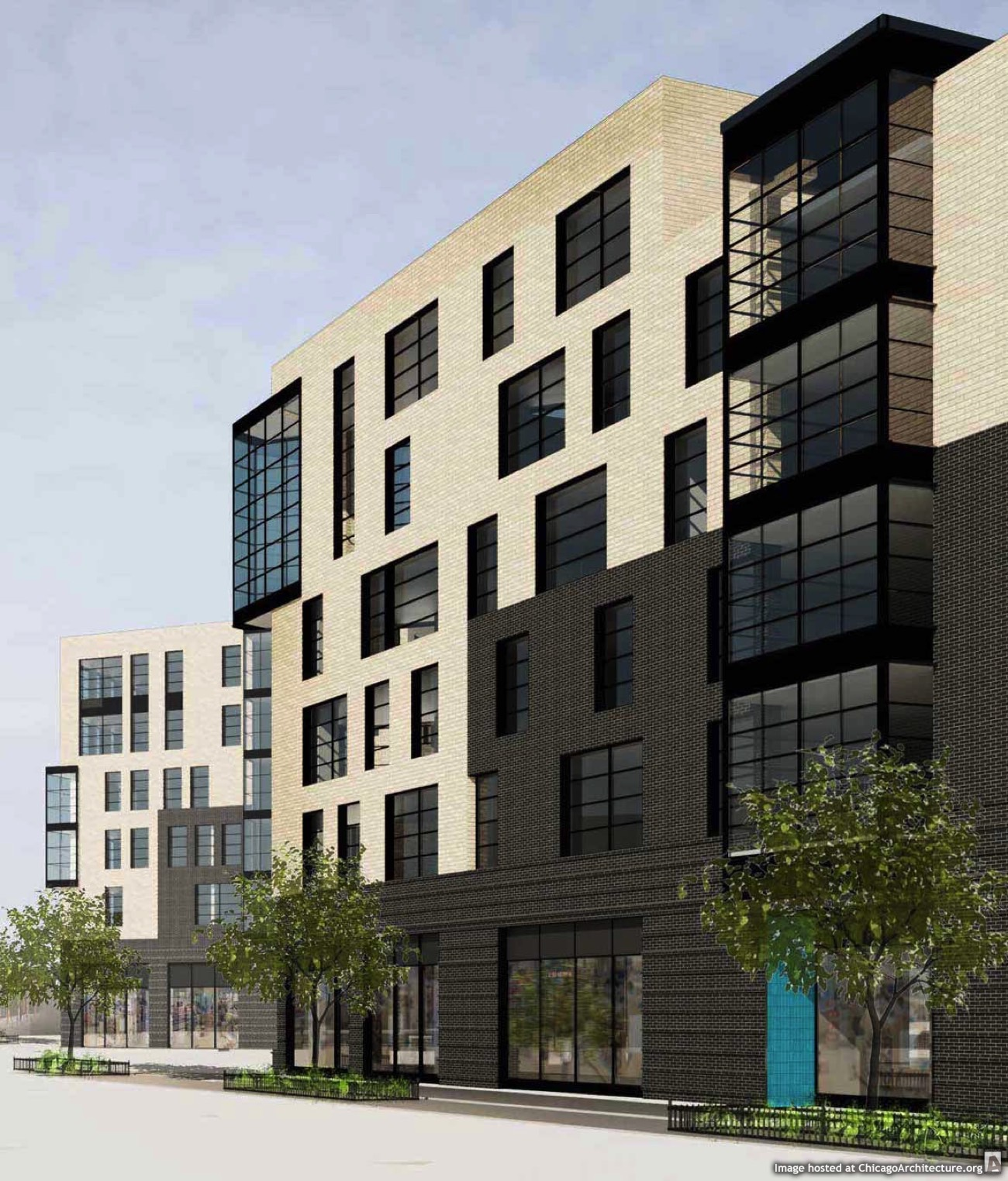 Rendering of the new Lathrop Homes gateway buildings (Courtesy of bKL Architecture)
