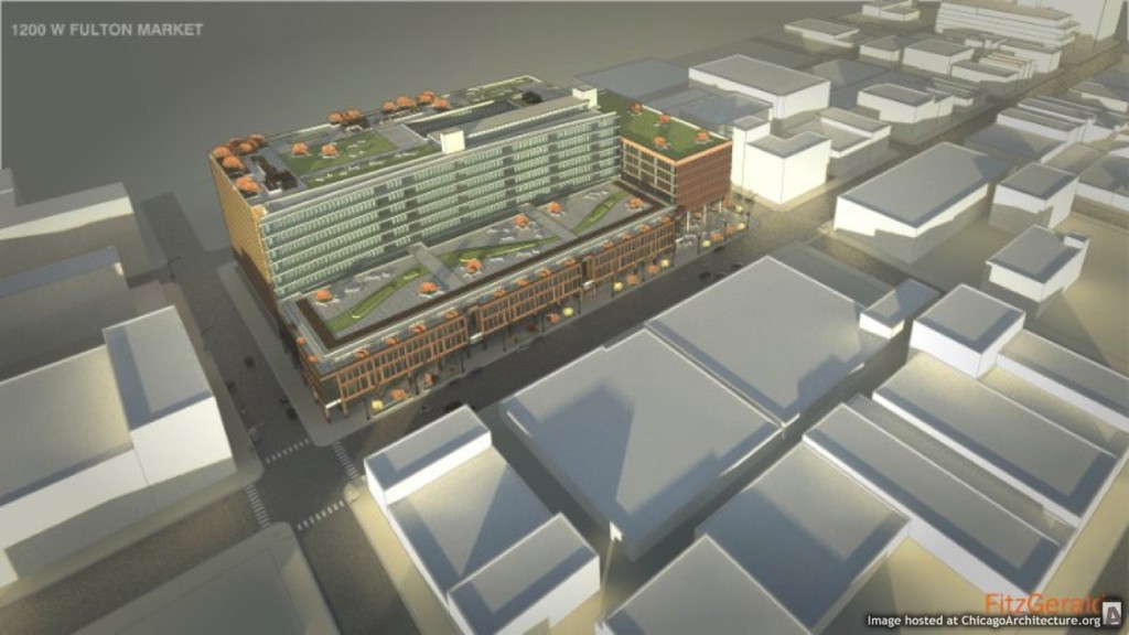 Rendering of 1200 West Fulton Market (Courtesy of FitzGerald Associates)