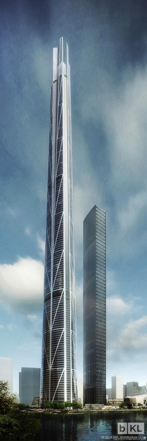 Rendering of bKL Shenzhen tower
