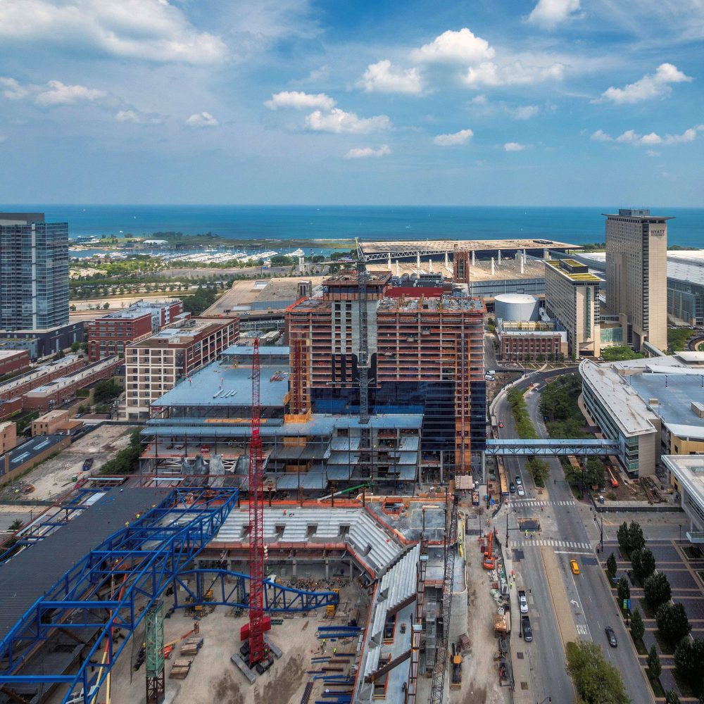 McCormick Place Event Center and Hotel expansion (Courtesy of Joe Zekas/YoChicago!)
