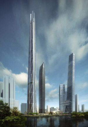 Rendering of H700 Shenzhen Tower (Courtesy of bKL Architecture)