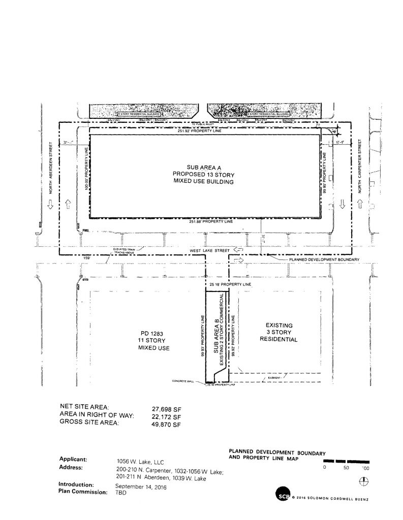 Drawing of 210 North Carpenter