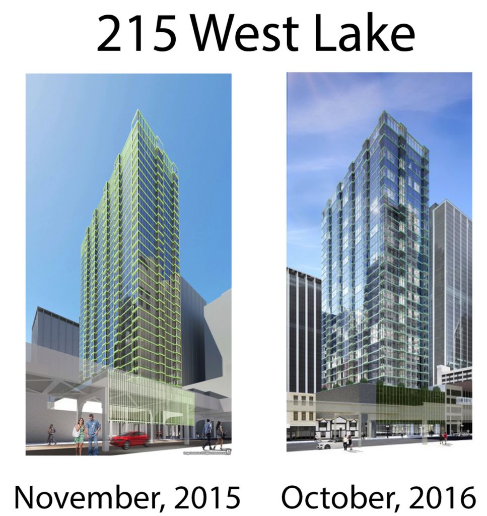 215 West Lake renderings compared