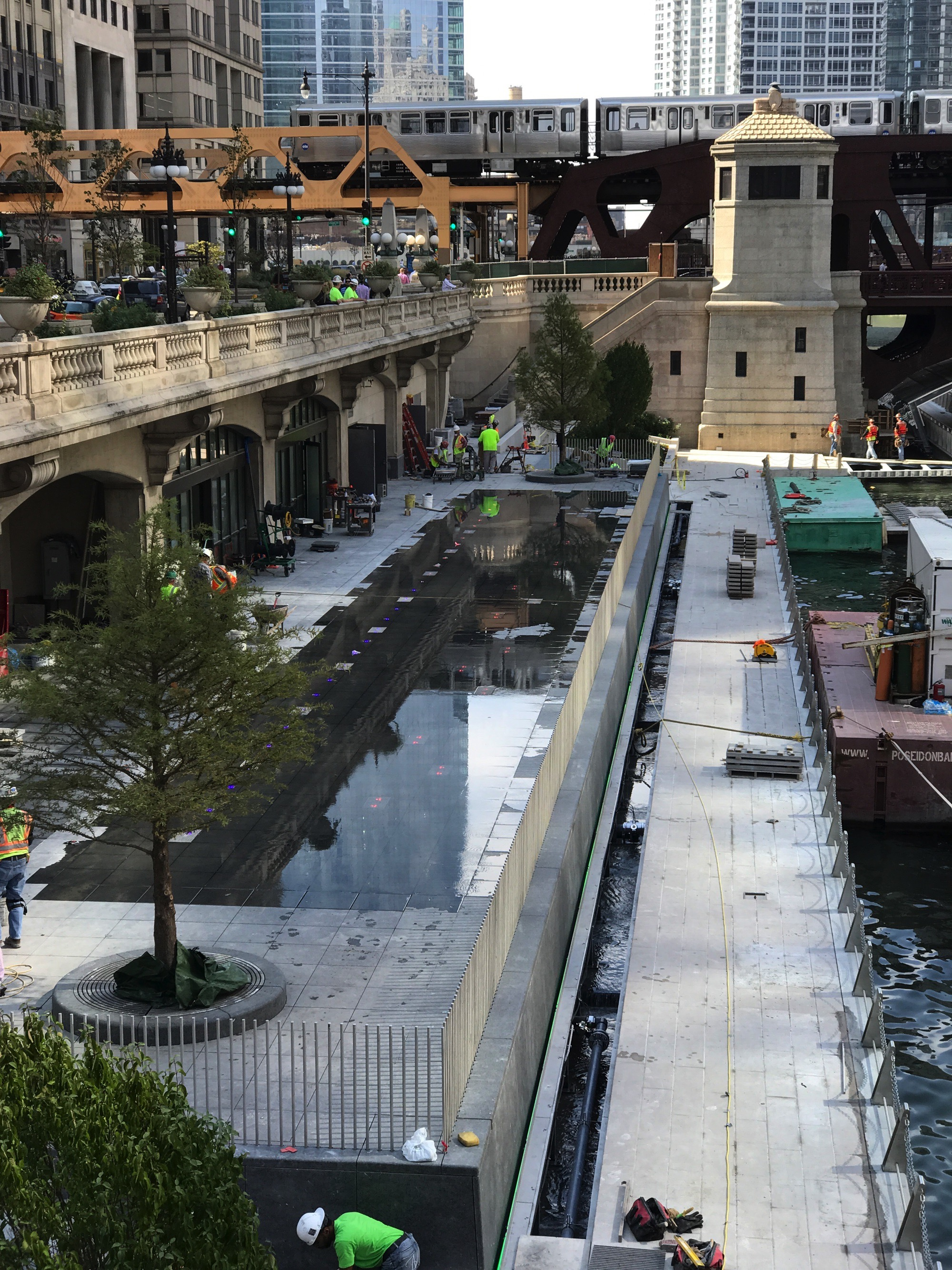Chicago Riverwalk under construction (Courtesy of Loop Spy DJ)