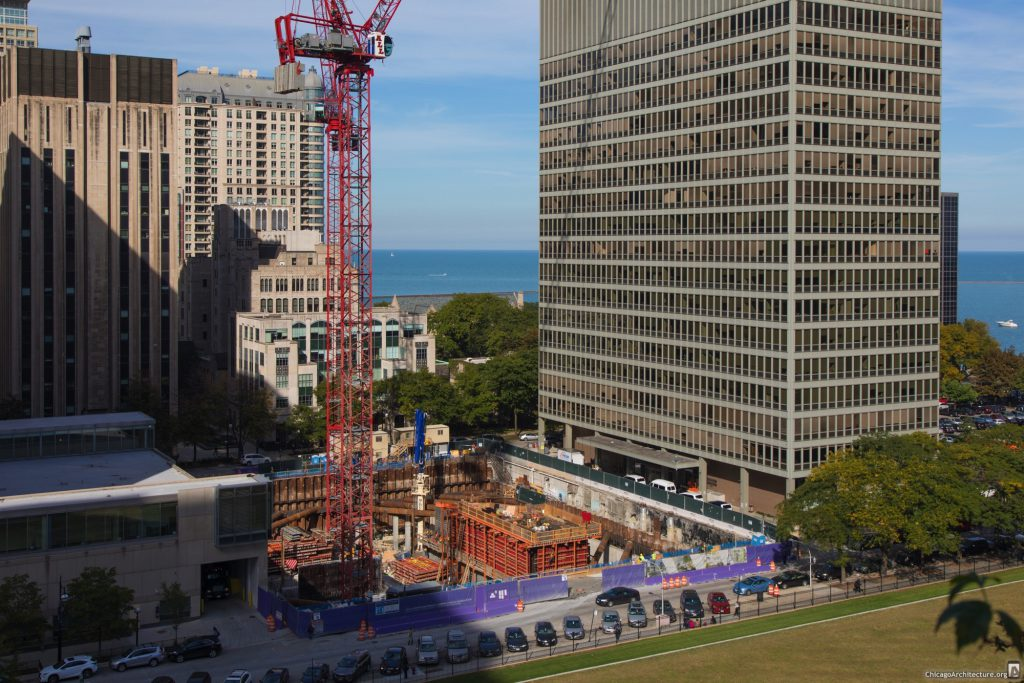 Northwestern University's Biomedical Research Tower under construction (Courtesy of Dr. Robert Vogelzang)