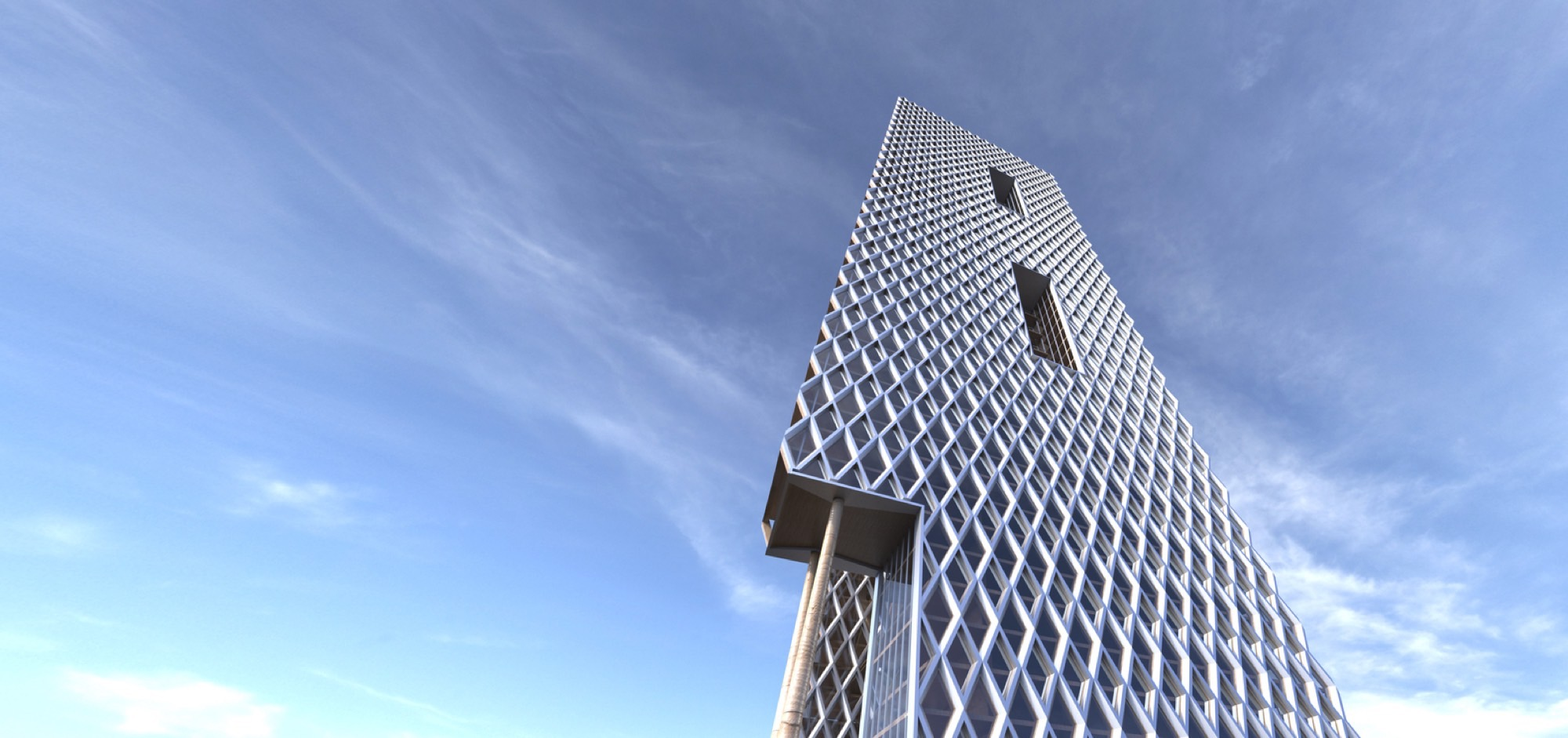 Rendering of Beech River Tower (Courtesy of Perkins+Will)