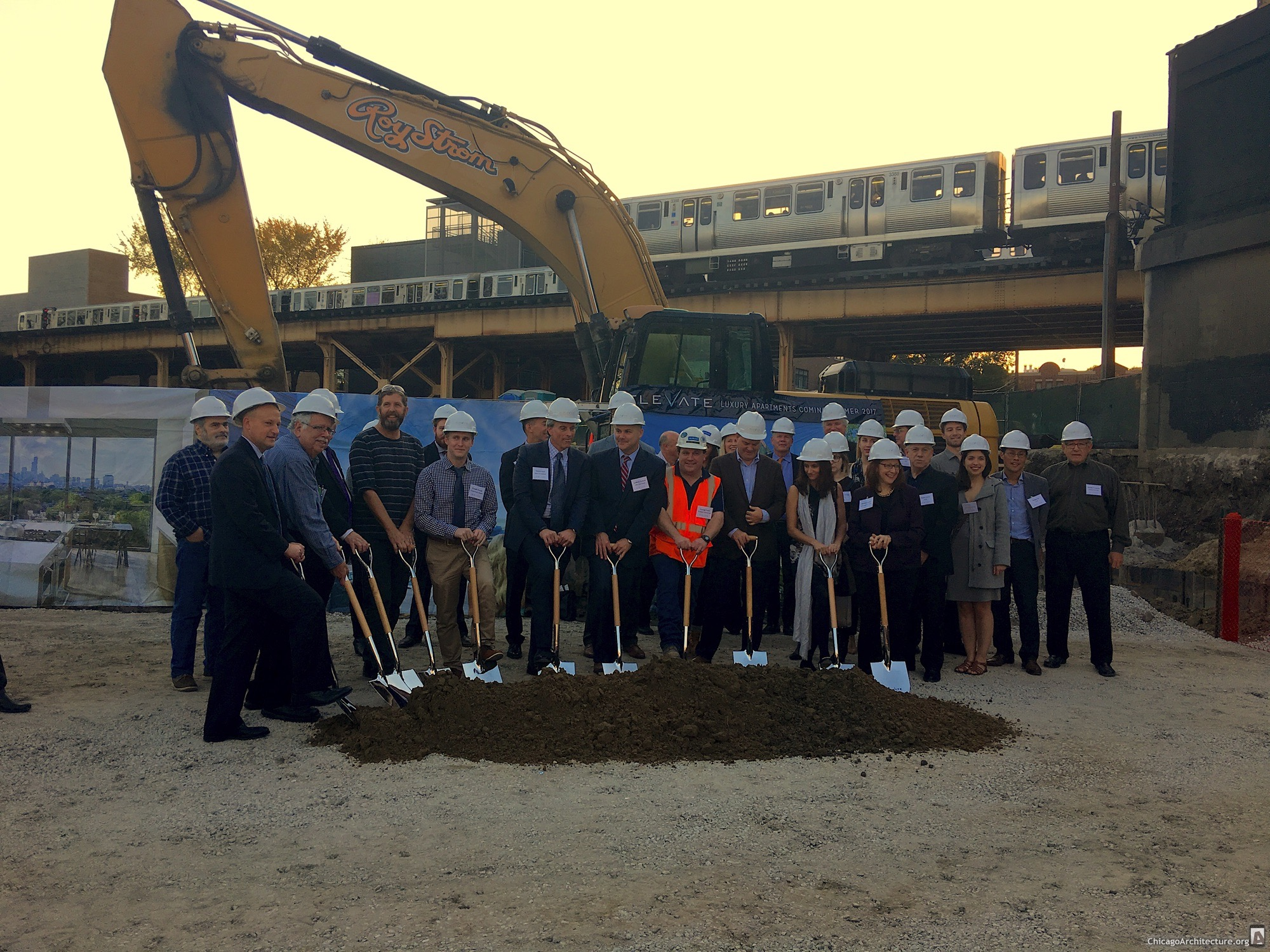 Groundbreaking for Elevate (Courtesy of Ian Achong)