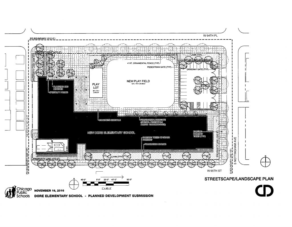 Diagram of Dore Elementary School
