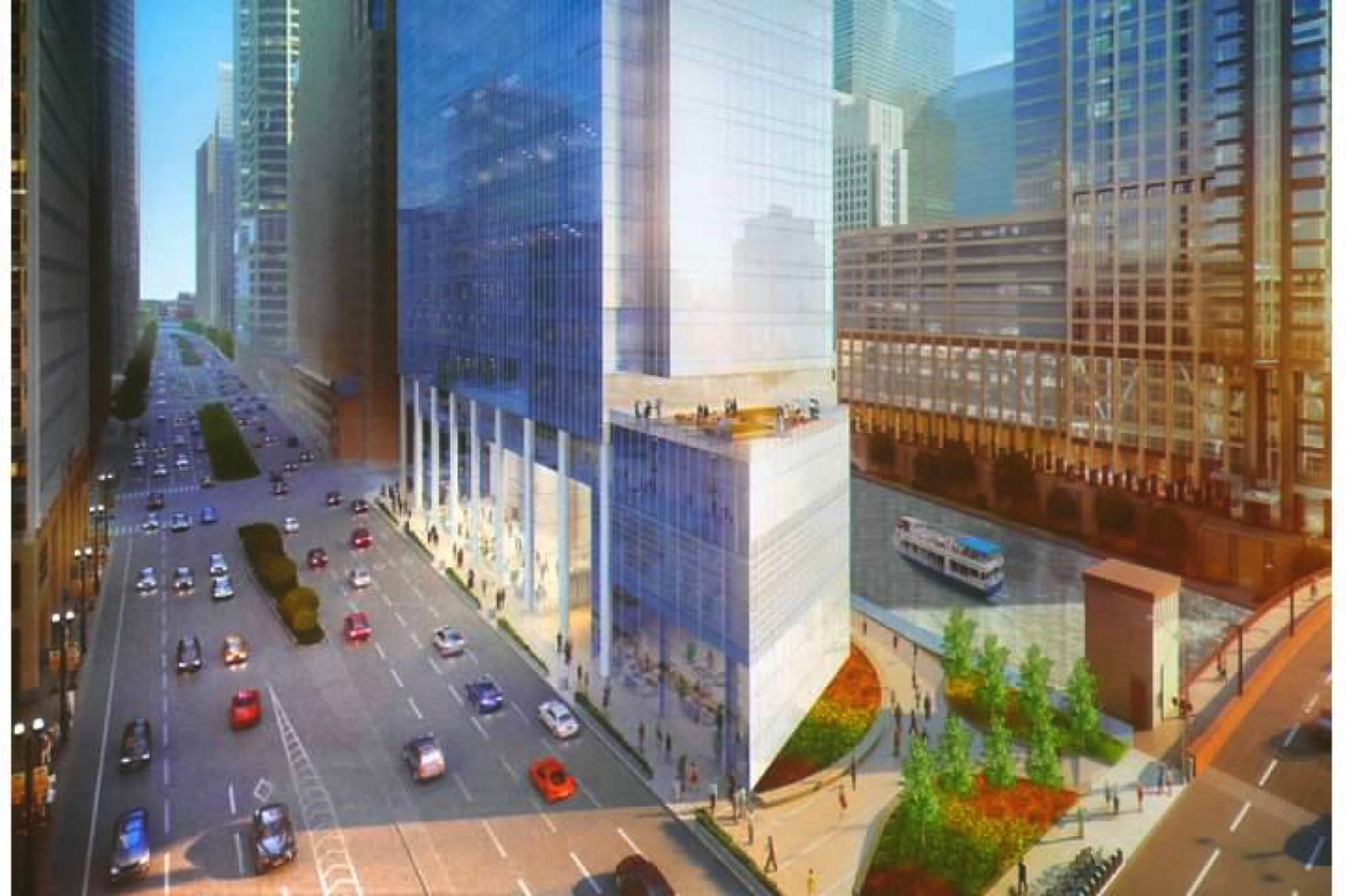 Rendering of 110 North Wacker (via BVictor1 at Skyscraperpage)
