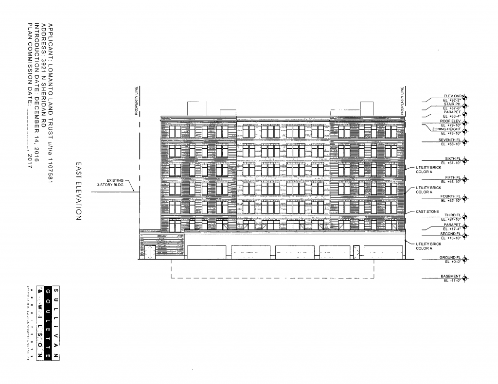 Diagram of 3921 North Sheridan