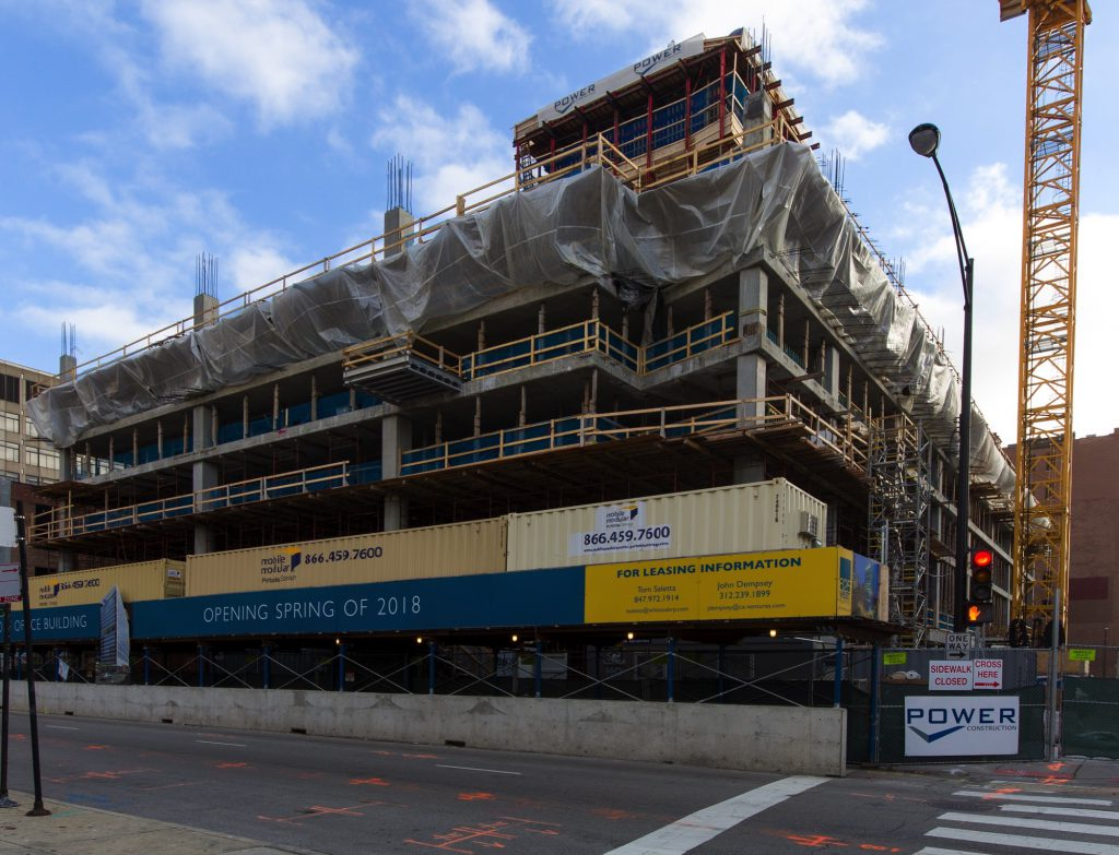 625 West Adams under construction (Courtesy of Michael Lyons)