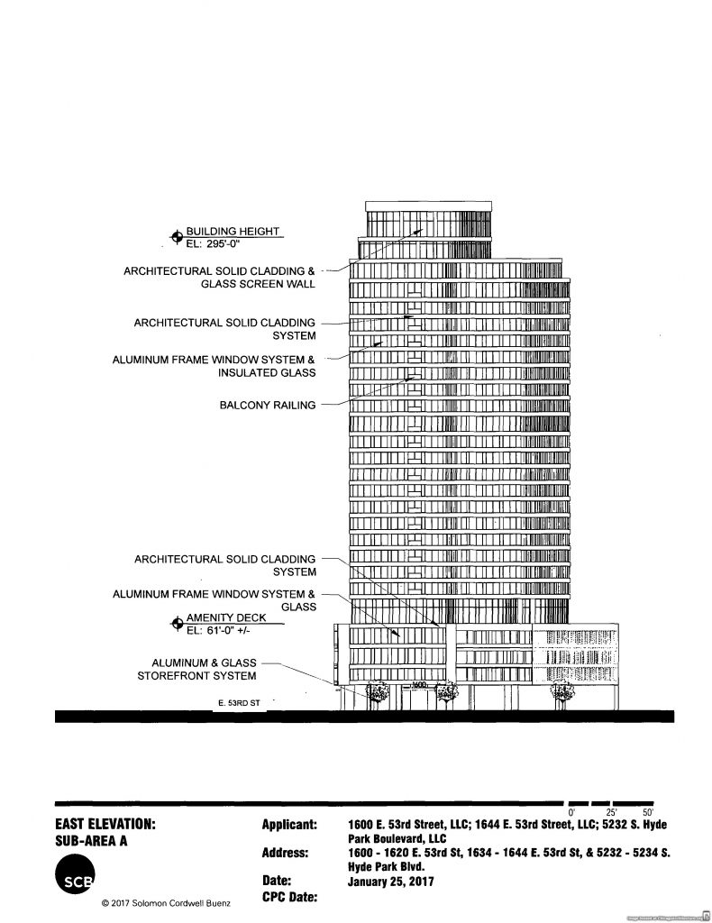Diagram of 1600 East 53rd Street