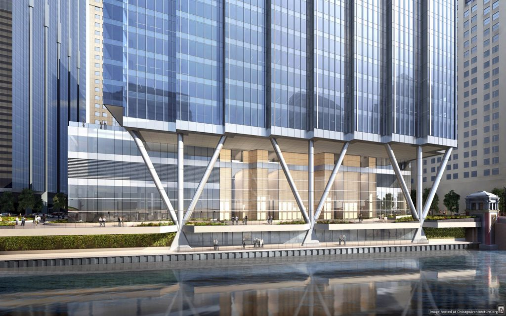 Rendering of 110 North Wacker Drive (Courtesy of Howard Hughes Corporation)