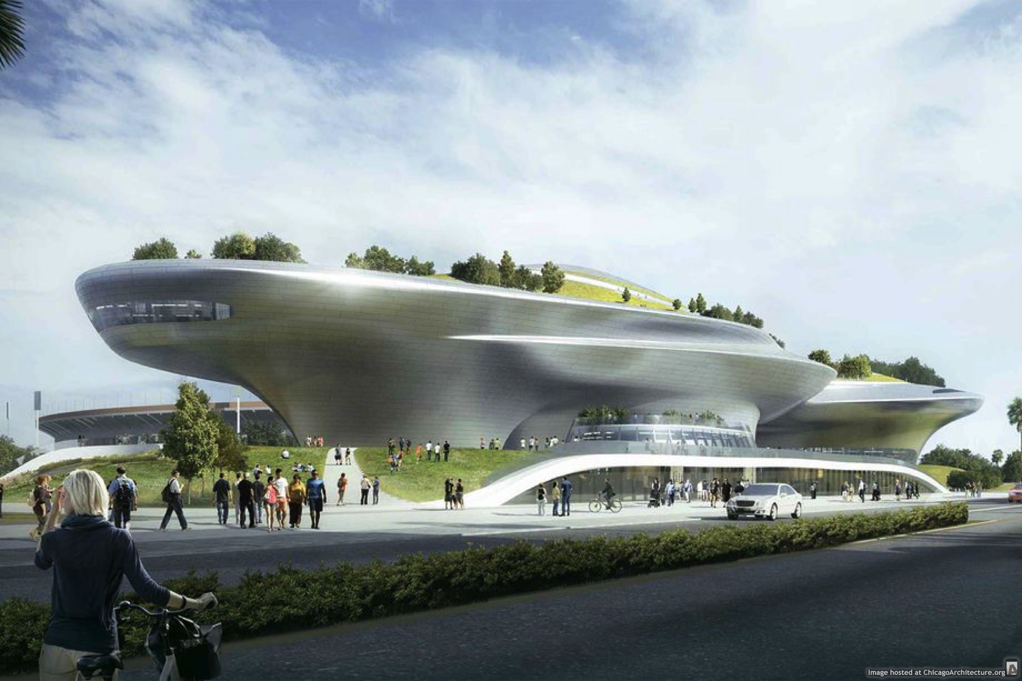 Updated rendering of the Lucas Museum of Narrative Art (via Los Angeles Department of City Planning)